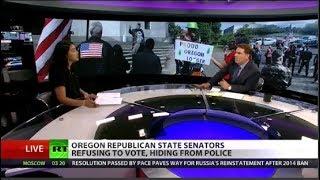 Oregon republicans hiding to avoid climate vote