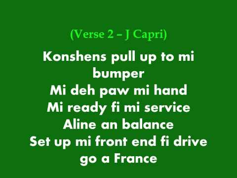 Konshens and J Capri - Pull up to mi bumper (lyrics)