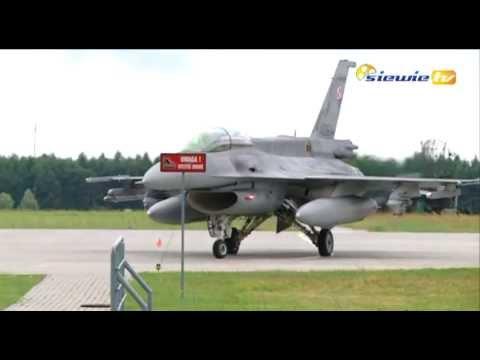 AMERYKAŃSKIE F-16 PRZYLECIAŁY DO ŁASKU - siewie tv