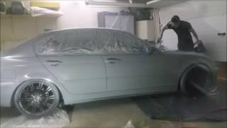 Covering liquid Plasti Gris Dauphin d'une BMW série 3 par Auto Dip France