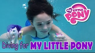 Diving for My Little Pony Girl Playing Swimming Underwater in Pool