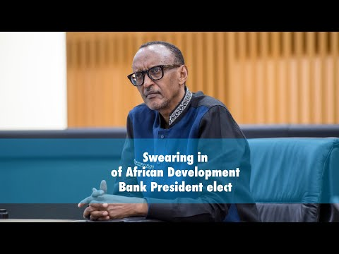 Swearing in of African Development Bank President elect | Remarks by President Kagame.