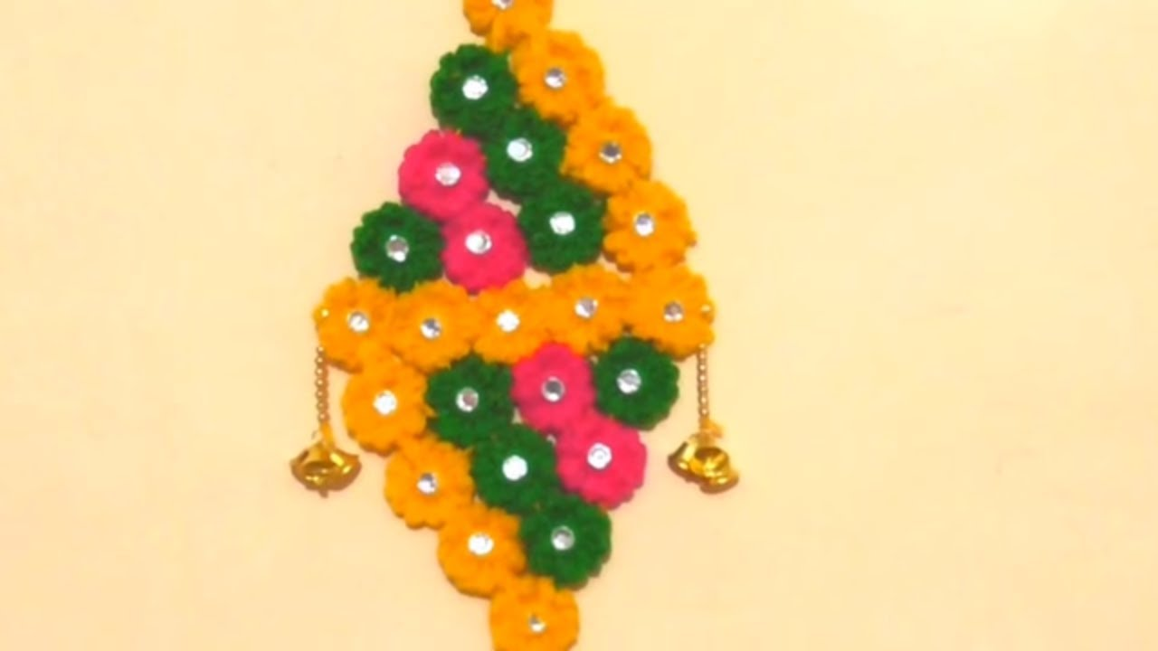Diy - Wall Hanging Woolen Craft || Decoration Idea Using Woolen ...