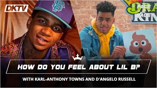 Face 2 face with karl-anthony towns and d'angelo russell: how do you feel about lil b?