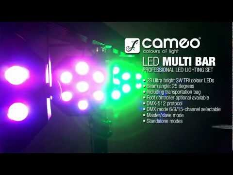 Cameo Light Multi PAR - Compact 28 x 3 W Tri Colour LED Lighting Set