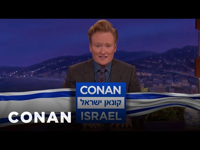 """Conan Announces """"Conan Without Borders: Israel""""  - CONAN on TBS"""