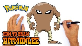 How to Draw Hitmonlee | Pokemon