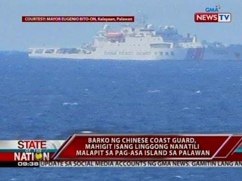 SONA: Barko ng Chinese Coast Guard, mahigit isang linggong nanatili malapit sa Palawan