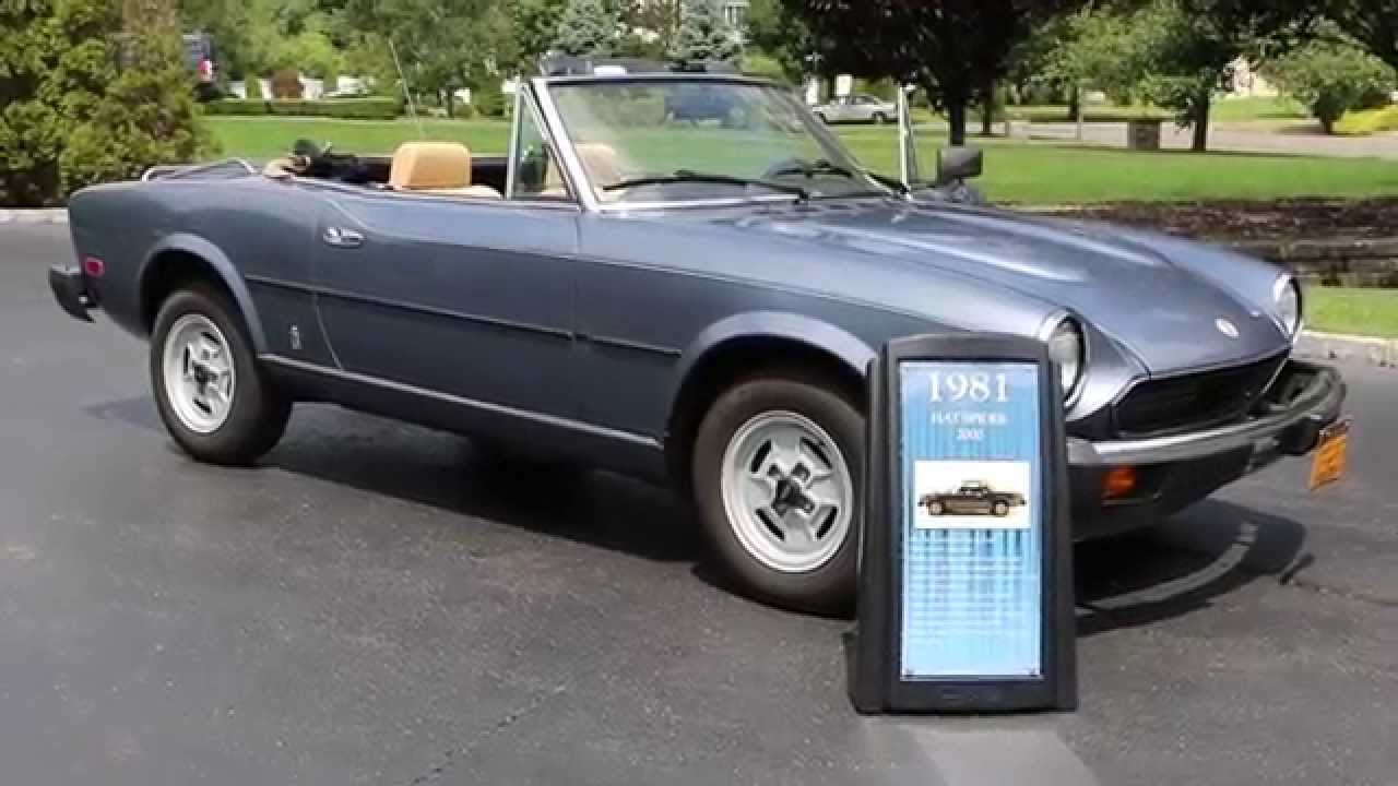 Sold1981 Fiat Spider 124 2000 For Sale2 Owners20124 Milesoriginal Survivor 1970 Convertible Youtube
