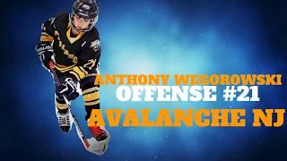 #sportsHighlightsnj  Anthony Wegorowski #21 Offence Avalanche NJ