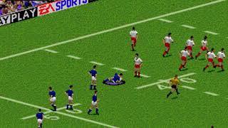 Australian Rugby League  SEGA MEGADRIVE GENESIS HYPERSPIN NOT MINE VIDEOSEurope