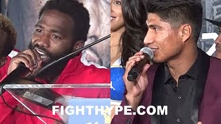 "ADRIEN BRONER AND MIKEY GARCIA TRADE WORDS DURING HEATED DEBATE: ""ABOUT TO BEAT YOUR ASS"""