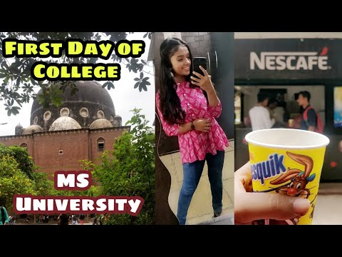 My First Day Of College| MS University Vadodara| Thebrowndaughter