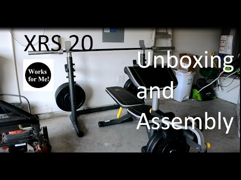 Gold's gym XRS 20 Weight Bench Unboxing and Assembly