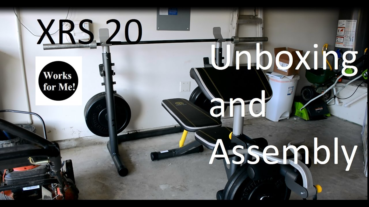 Gold S Gym Xrs 20 Weight Bench Unboxing And Assembly Youtube
