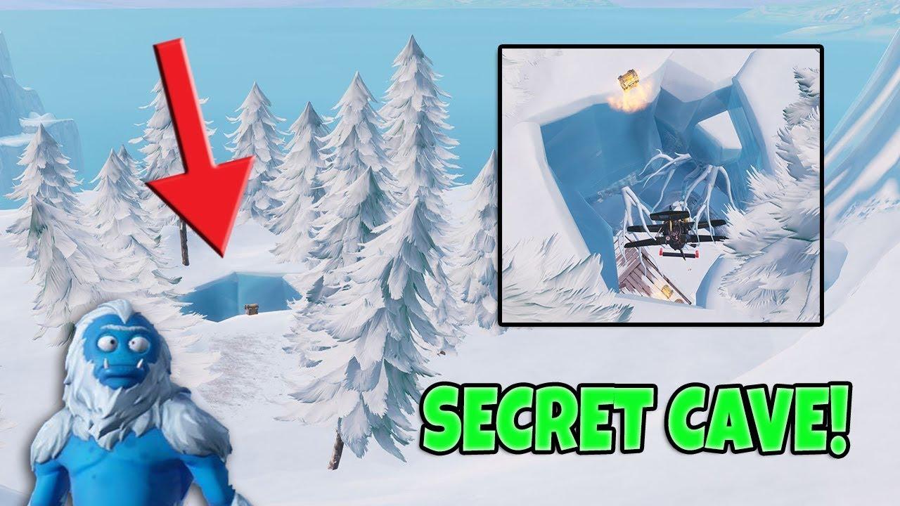 New Secret Yeti Cave Location In Fortnite Season 7 Youtube