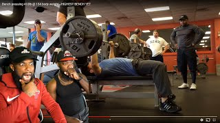 THIS SMALL DUDE HAS SUPER HUMAN STRENGTH! Bench pressing 410lbs  At 154lb Body Weight!