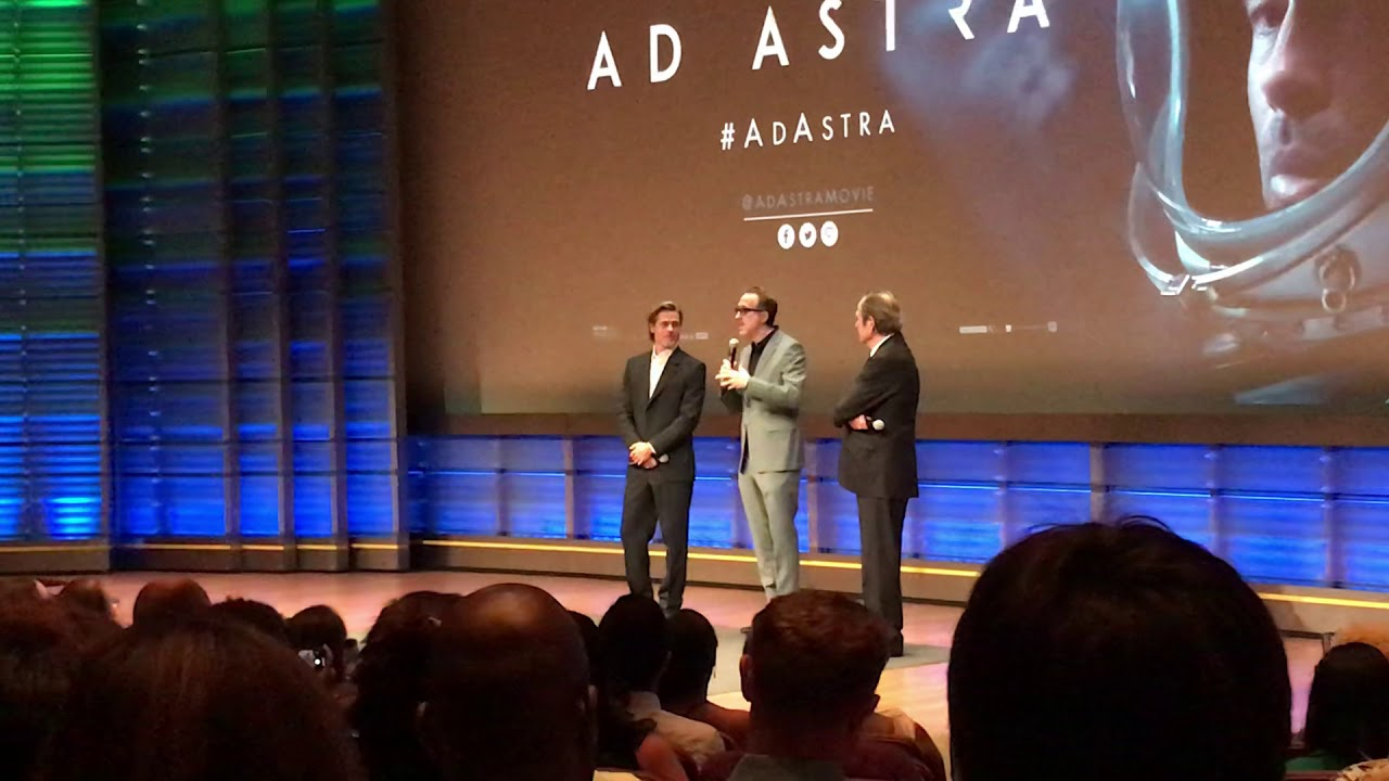 Brad Pitt, Tommy Lee Jones, and James Gray Intro at Ad Astra Screening