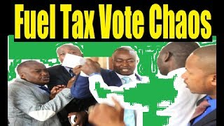 Drama In Parliament Over Fuel Tax As Bobi Wine Arrives To Museveni Theatrics