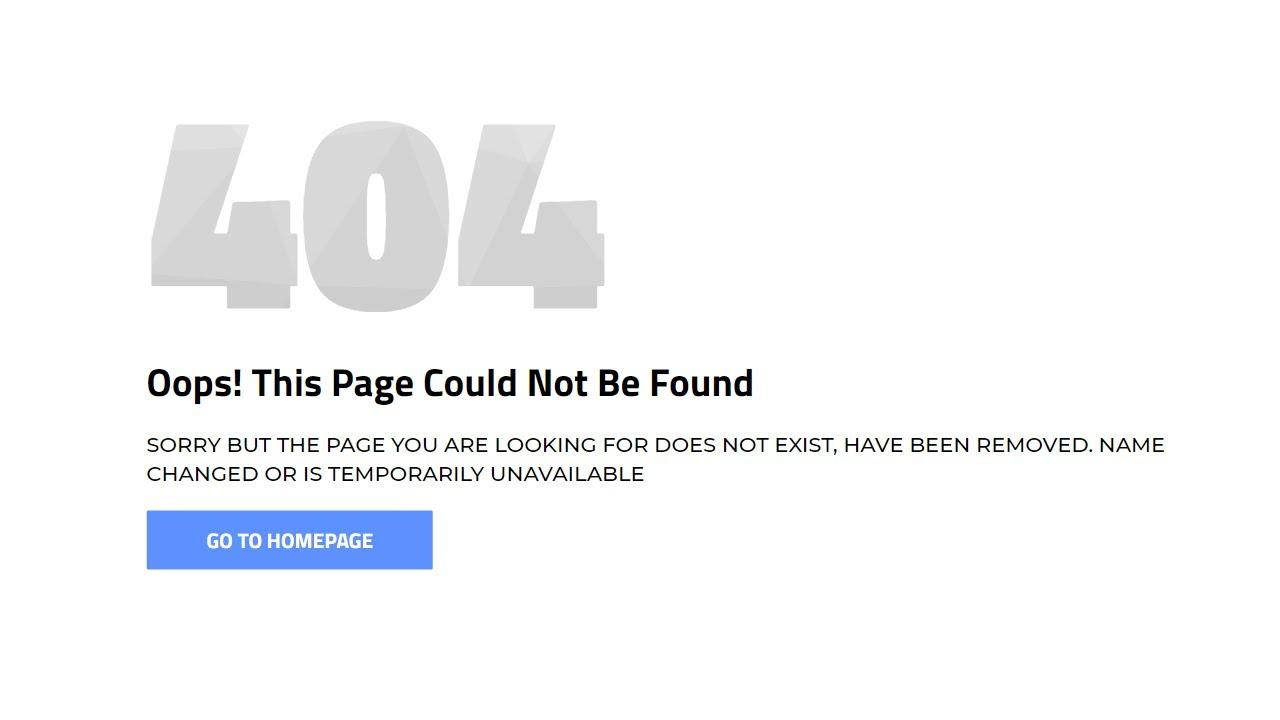 How to Create Custom 404 Error Page in Laravel 8