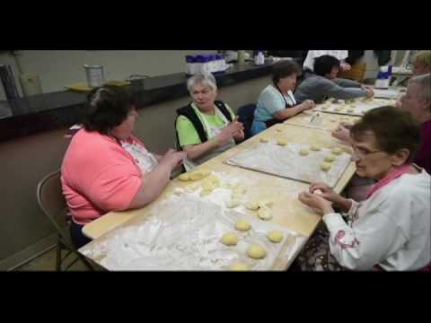 Paczki making at St. Joseph Catholic Church