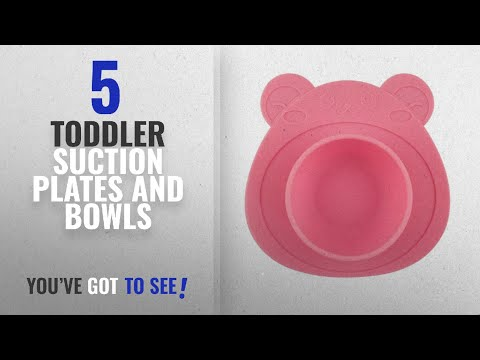 Best Toddler Suction Plates And Bowls [2018]: URSMART One-piece Baby Placemat Bowl-Highchair Feeding