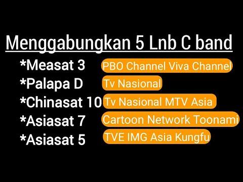 Pasang 5 Lnb Measat 3a Palapa D Asiasat 7 Asiasat 5 Chinasat 10 Dish 7 Feet