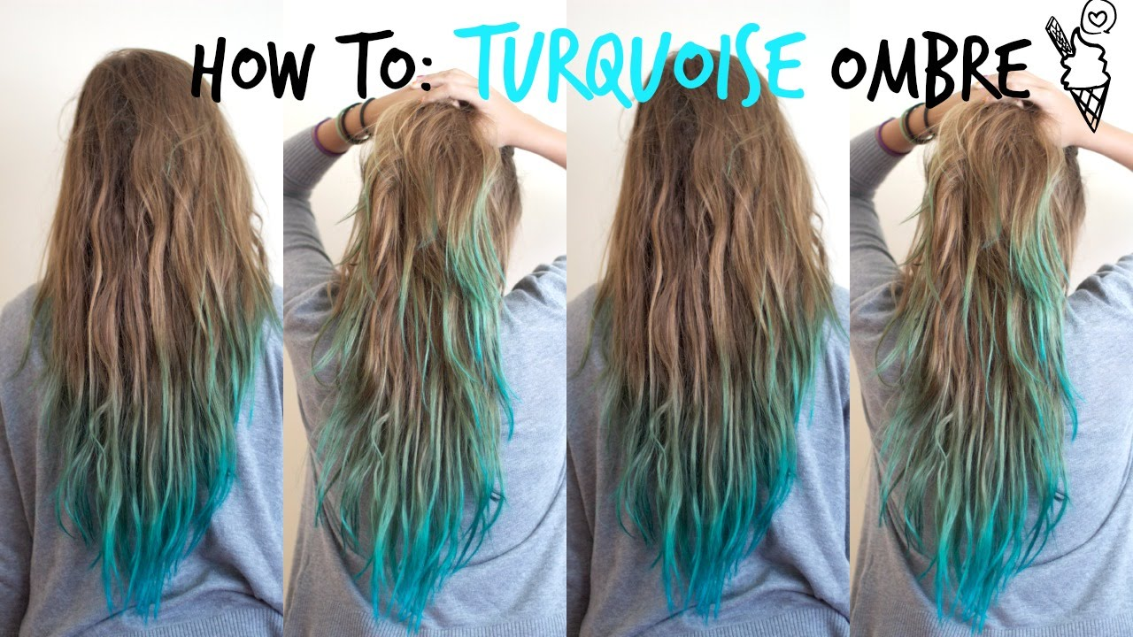 how to turquoise ombre �� youtube