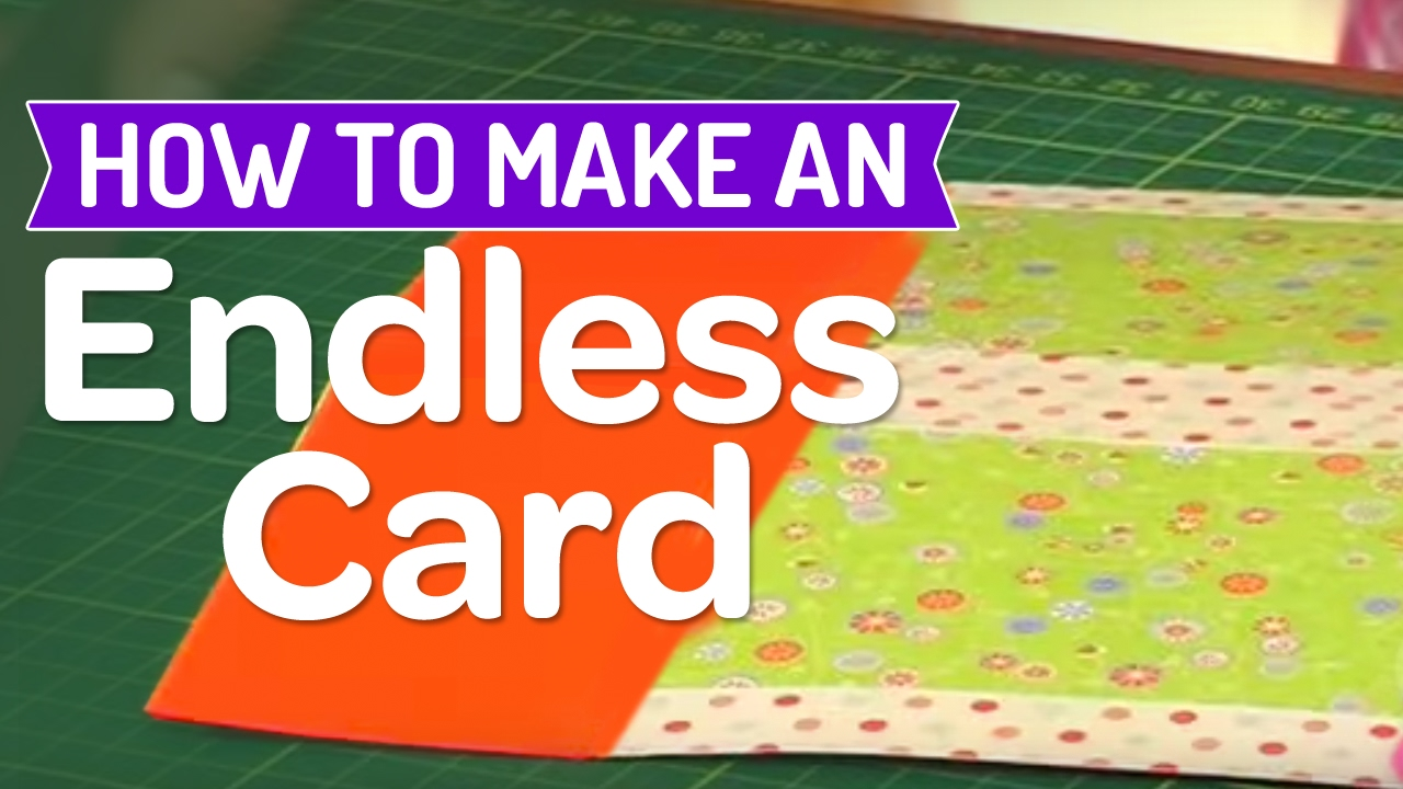 How to make an endless card youtube for Giant christmas card ideas