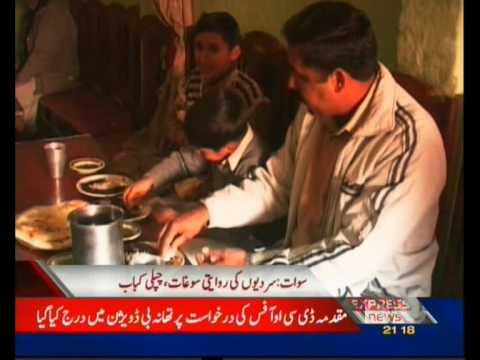In swat valley Pakistan chapli kabab are favorite dish in winter season