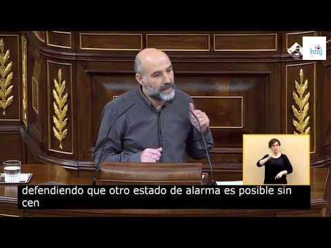 Intervención de Néstor Rego no debate da prórroga do estado de alarma