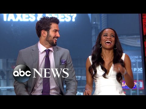 Bachelorette Rachel Lindsay, fiance Bryan Abasolo play the newlywed game