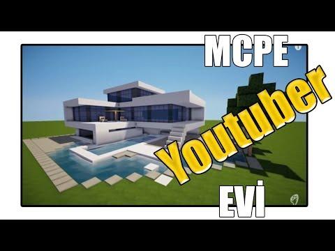 YOUTUBER EVİ ! | Minecraft PE: MCPE BKT by Baran Kadir Tekin