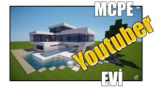 YOUTUBER EVİ ! | Minecraft PE: MCPE BKT