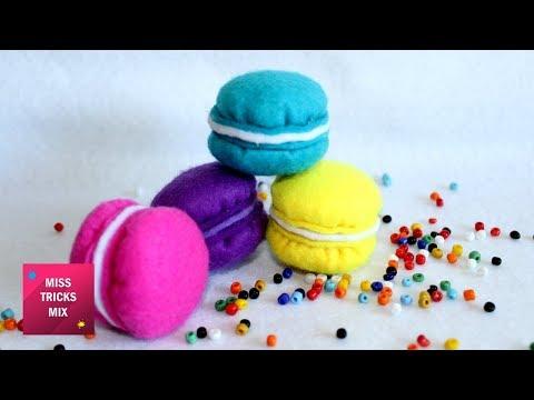 Felt Macaron Plush - DIY: How To Make Easy Felt Macaron Plush / Felt Crafts - Kids Crafts.