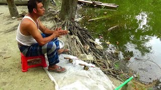 Best Live Fish Hunting 2018 | Awesome Fishing in West Bengal | traditional fishing in the village