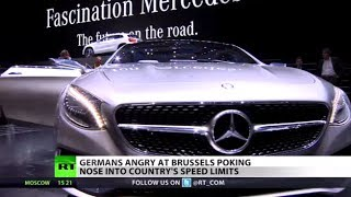 No Limits: Germans enraged as Brussels tries to control speed on autobahns