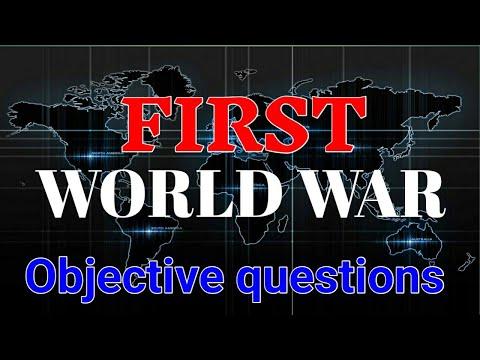 "Class 9th ""प्रथम विश्व युध्द"" 25+ objective question || r2c academy || first world war ||"