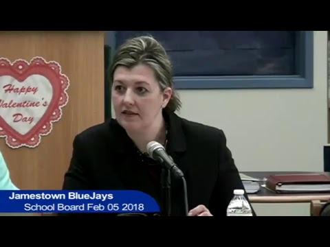 Jamestown Public Schools Board Meeting Feb 05 2018