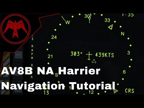 DCS AV-8B NA Harrier Tacan and ILS/AWLS Navigation Tutorial
