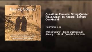 Quasi Una Fantasia: String Quartet No. 2, Op.64--lV. Allegro - Sempre Con Grand