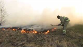 Вертолёт спас деревню от пожара