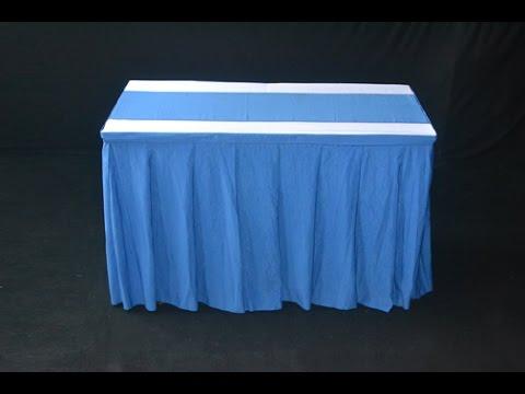 Order Taplak Meja Skirting Kotak Biru