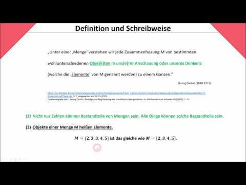 Mengenlehre: Definition und Schreibweise (Cantor | leere Menge) #1