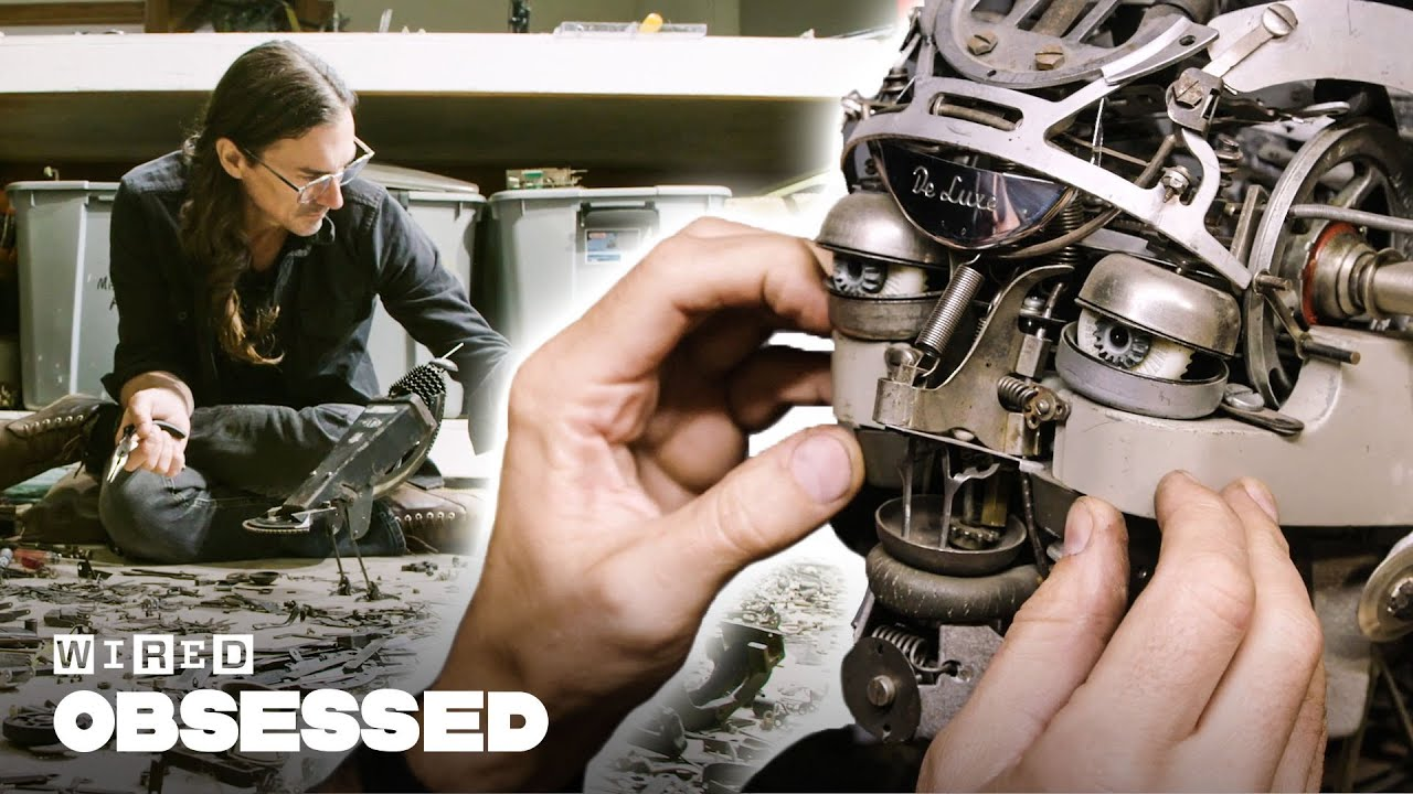 How This Guy Makes Sculptures Out of Old Typewriters | Obsessed