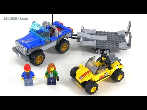 LEGO City 2015 Dune Buggy Trailer review! set 60082
