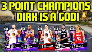 3 POINT CONTEST WINNERS! AMETHYST DIRK CATCHES FIRE! NBA 2K17 MYTEAM GAMEPLAY