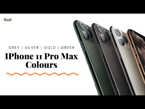 IPhone 11 Pro Max Colours | Hands On | Silver | Midnight Green | Gold | Black