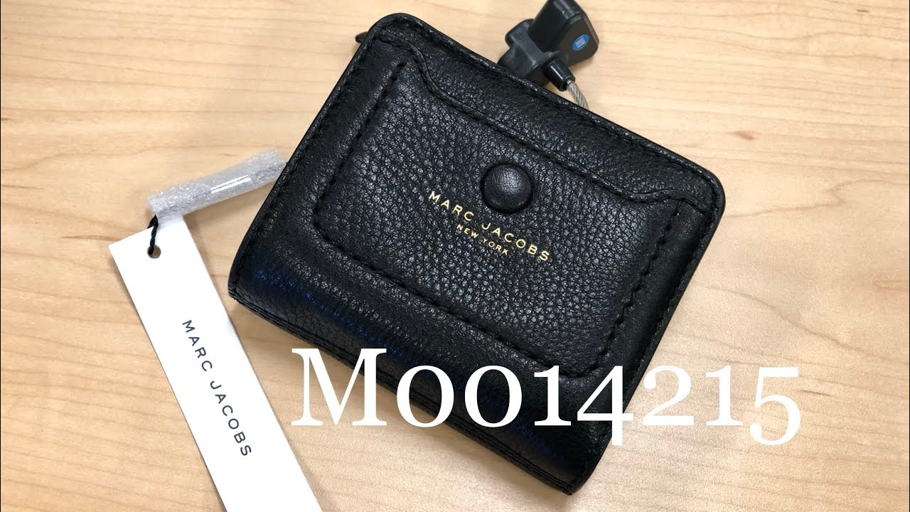 Marc Jacobs ☜SHOPPING☞ Empire City Mini Compact Leather Coin Wallet /  M0014215 / Black