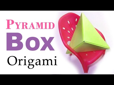 Pyramid Origami ▲ Easy Paper Fold ▲ DIY Cute Gift Box ▲ Paper Box Tutorial
